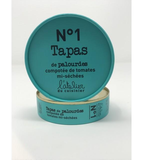 Tapas de Palourdes , compotée de tomates mi-séchées. N°1