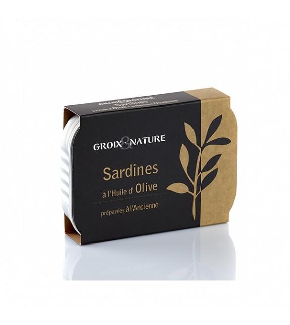 Sardines à l'huile d'olive préparées à l'ancienne de l'Île de Groix