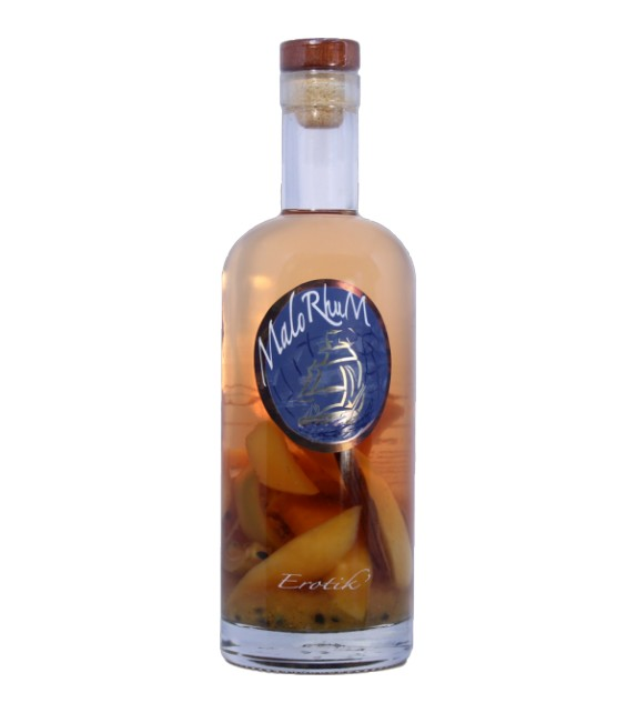 EROTIK - Rhum aux fruits de la passion, mangues, vanille, citronnelle et épices