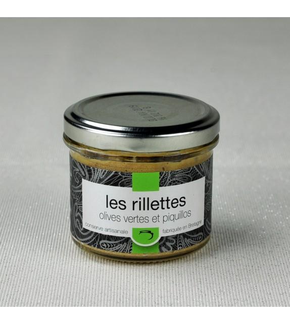 Rillettes de cochon olives vertes & Piquillos