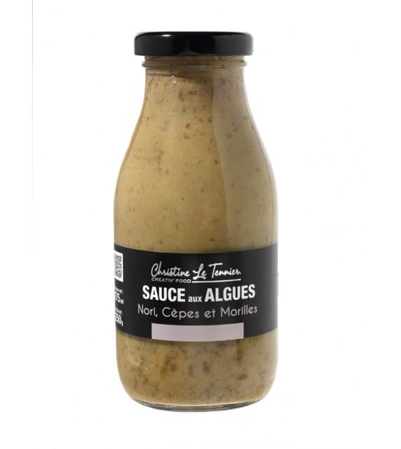 Sauce aux algues, Nori, cèpes et morilles