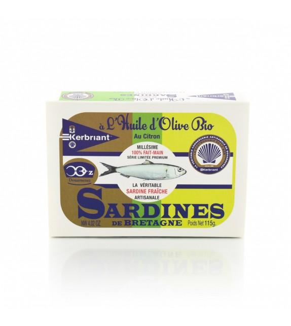 Sardines à l'huile d'olive bio et au citron