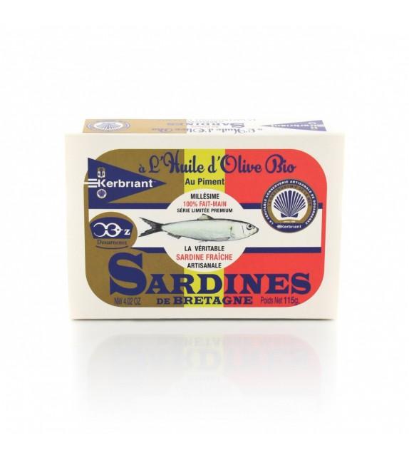 Sardines à l'huile d'olive Bio au piment