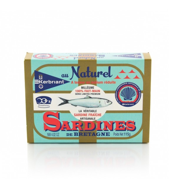 Sardines au naturel