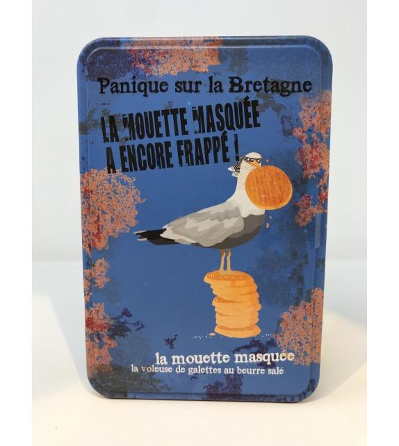 """Boite métal assortiment galettes et palets bretons """" Mouette masquée"""""""