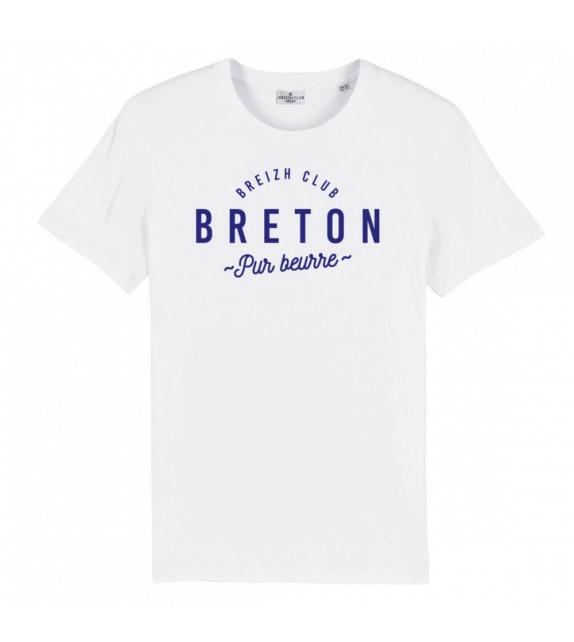 T-Shirt Breton pur beurre Blanc XL