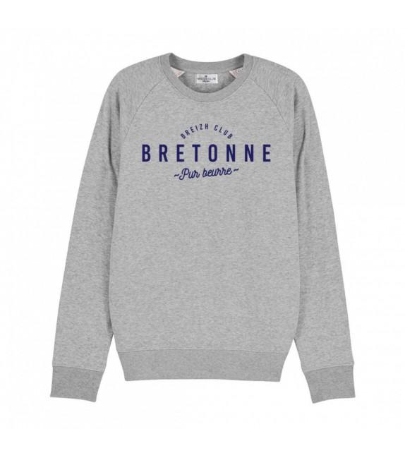 Sweat Bretonne pur beurre Gris XS
