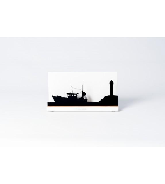 """Silhouette """" Bateau de pêche"""""""
