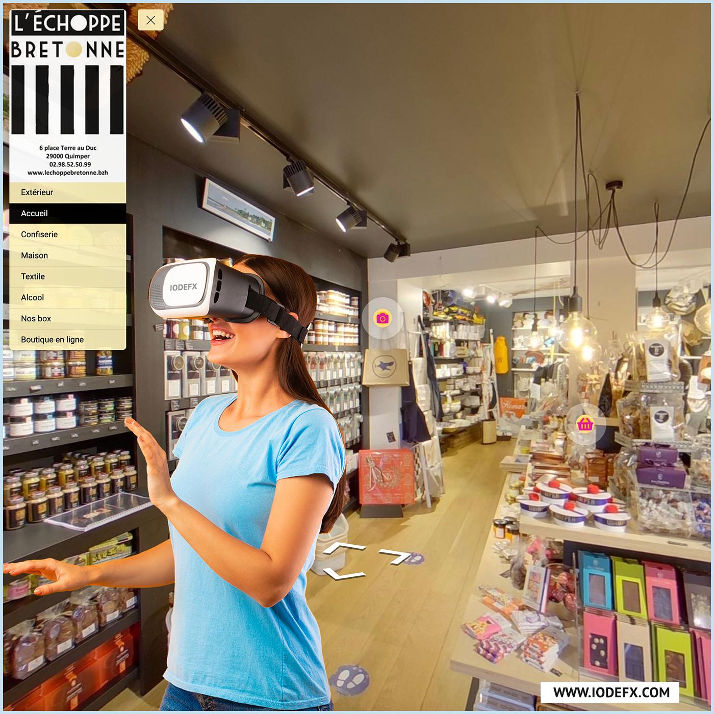 Visite virtuelle de la boutique